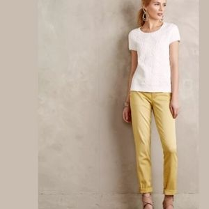 PILCRO AND THE LETTERPRESS x Anthro Yellow Pants